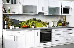 """Скинали на кухню Zatarga """"Мандариновая роща"""" 600х3000 мм виниловая 3Д наклейка кухонный фартук самоклеящаяся"""