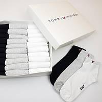 Набор мужских носков Tommy Hilfiger, Томми Хилфигер 30 пар в подарочной упаковке комплект фирменных носков