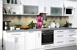 "Скинали на кухню Zatarga ""Тайланд"" 650х2500 мм виниловая 3Д наклейка кухонный фартук самоклеящаяся"