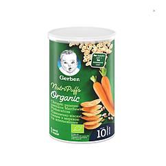 Пшенично-вівсяні снеки Gerber з морквою та апельсинами, 10+, 35г