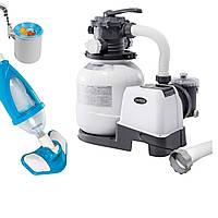 Оборудование для бассейна «Эксклюзив База» Intex 26646-4 (насос фильтр 6 000 л/ч, пылесос, скиммер, шланг)