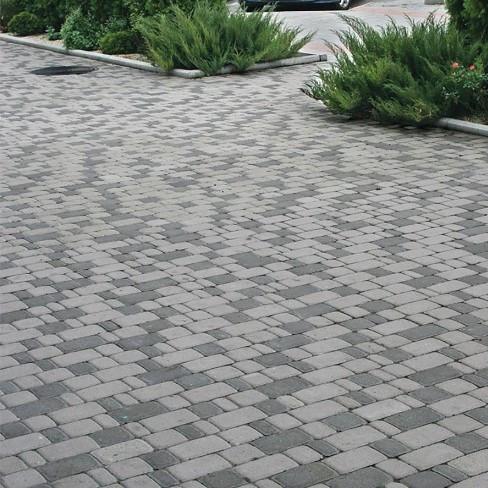 Тротуарная плитка Старый город Золотой мандарин Серая
