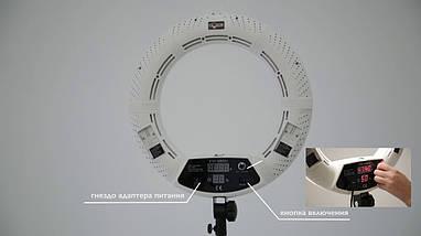 """Кільцева світлодіодна лампа Yidoblo FD-480ll кільцевої світло для фото, відео 18"""" 45 см 96W Селфі кільцева, фото 3"""