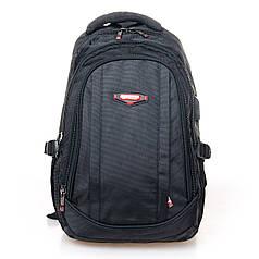 Школьный рюкзак подростковый для мальчика с USB переходником черный городской Power In Eavas 9063