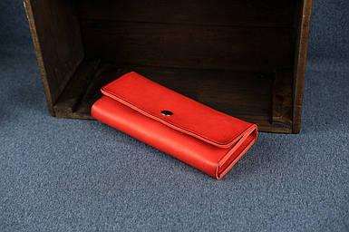 Шкіряний гаманець на 12 карт Шкіра Італійський Краст колір червоний