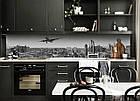 """Скинали на кухню Zatarga """"Синева ночного города"""" 600х3000 мм виниловая 3Д наклейка кухонный фартук, фото 6"""