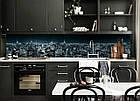 """Скинали на кухню Zatarga """"Синева ночного города"""" 600х3000 мм виниловая 3Д наклейка кухонный фартук, фото 7"""