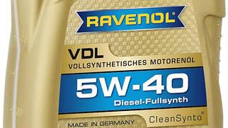 Масло моторне Ravenol 5W40 4л VDL