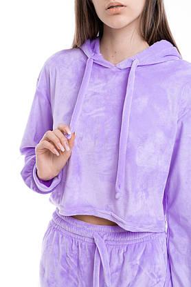 Худі Жіноче вкорочене Intruder Brand бузковий, фіолетовий, фото 3