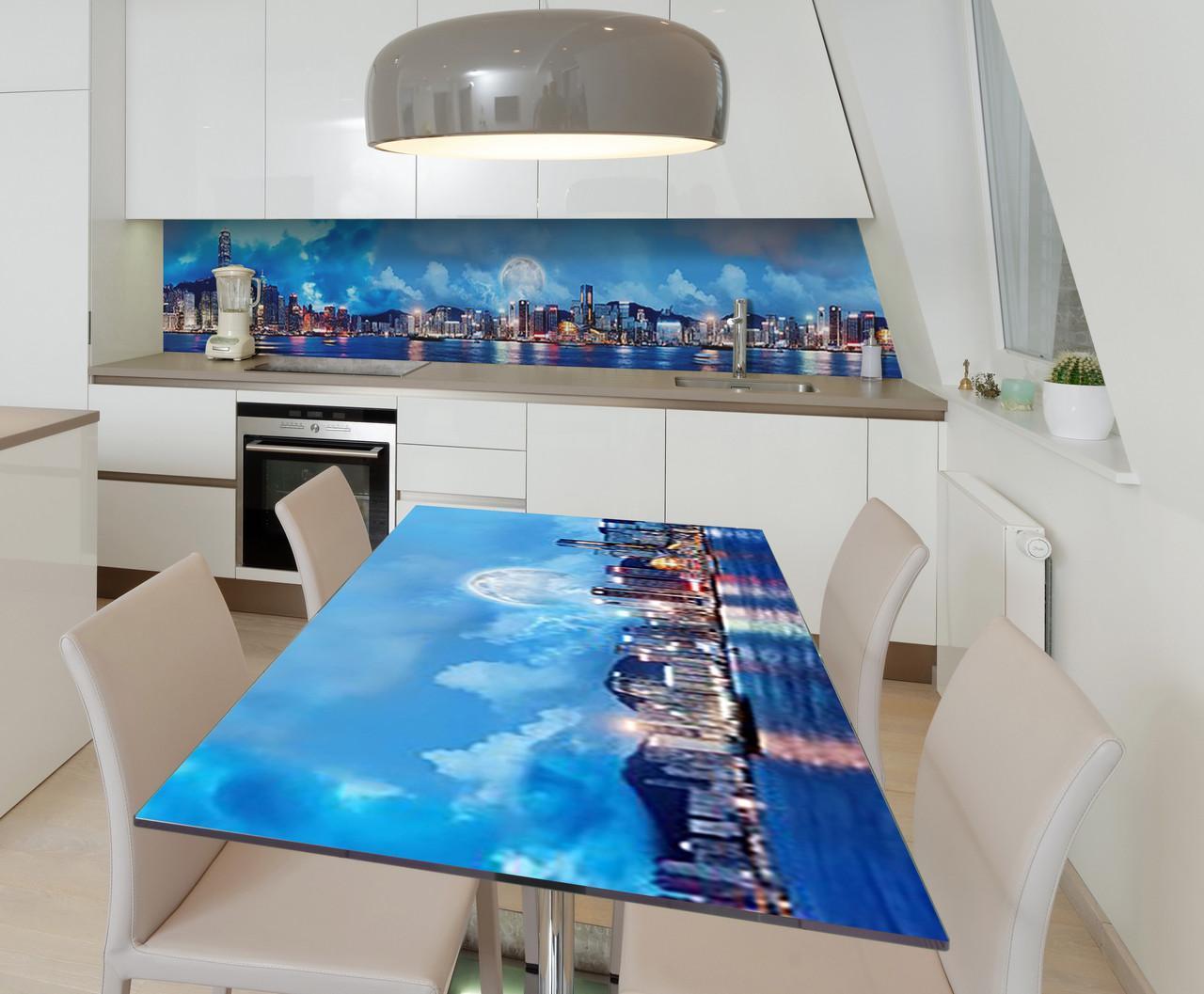 Наклейка 3Д виниловая на стол Zatarga «Тайные ночи» 600х1200 мм для домов, квартир, столов, кофейн, кафе