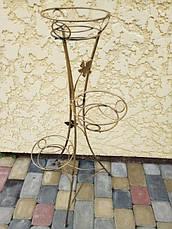 """Підставка кована для квітів """"Вежа"""" на 3 вазона, фото 3"""