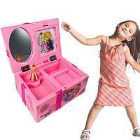Музична дитяча шкатулка для прикрас 9219 (балеринка)