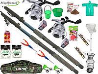 Готовые наборы для рыбалки, Набор рыболовный, Набор рыболовных снастей, набор спиннинг с катушкой!