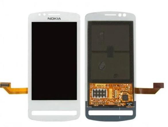 Дисплей для Nokia 700 c сенсорним склом (Білий) Оригінал Китай