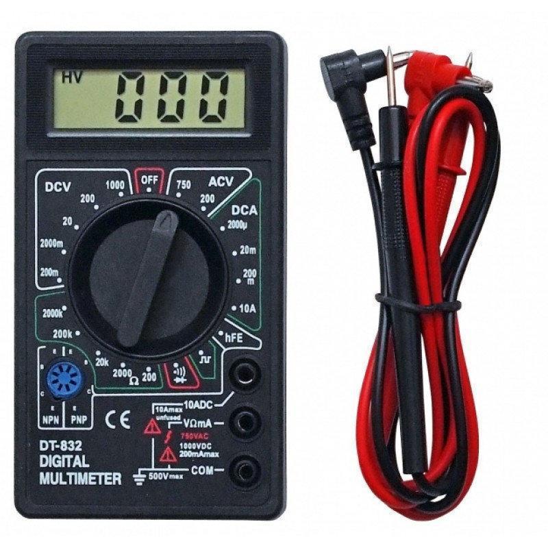 Мультиметр цифровой DT 832 с дисплеем