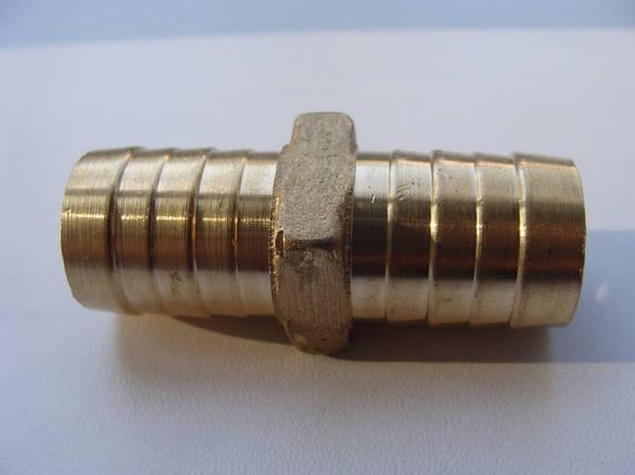 Двійник для шланг 18-18мм (під хомут) метал, фото 2