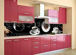 Скинали на кухню Zatarga «Выпей Кофе» 650х2500 мм виниловая 3Д наклейка кухонный фартук самоклеящаяся для
