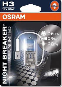 Лампа H3 12v 55w BREAKER ULTRA (пр-во OSRAM)