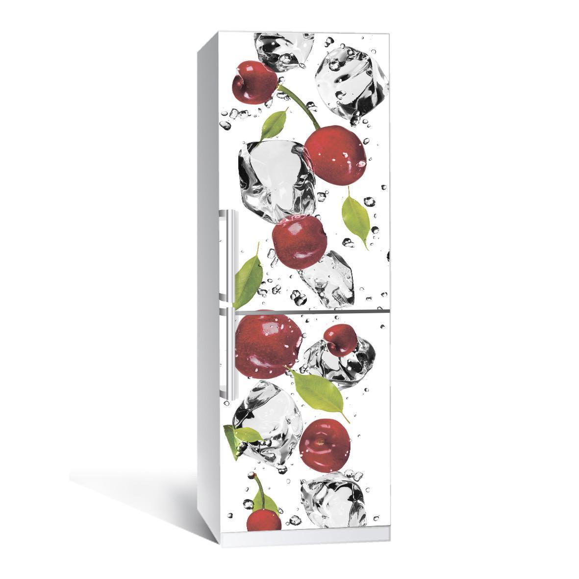 Наклейка на холодильник Zatarga Черешня 650х2000мм виниловая 3Д наклейка декор на кухню самоклеящаяся