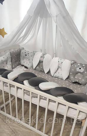 """Набор постельного белья детскую кроватку/ манеж """"Коса"""" - Бортики в кроватку / защита в детскую кроватку, фото 2"""