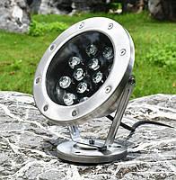Светильник подводный для фонтана K-3301 LED 12W RGB 12V размер 160мм*195мм IP68, фото 9