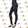 Трикотажные черные модные лосины, фото 2