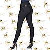 Трикотажные черные модные лосины, фото 3