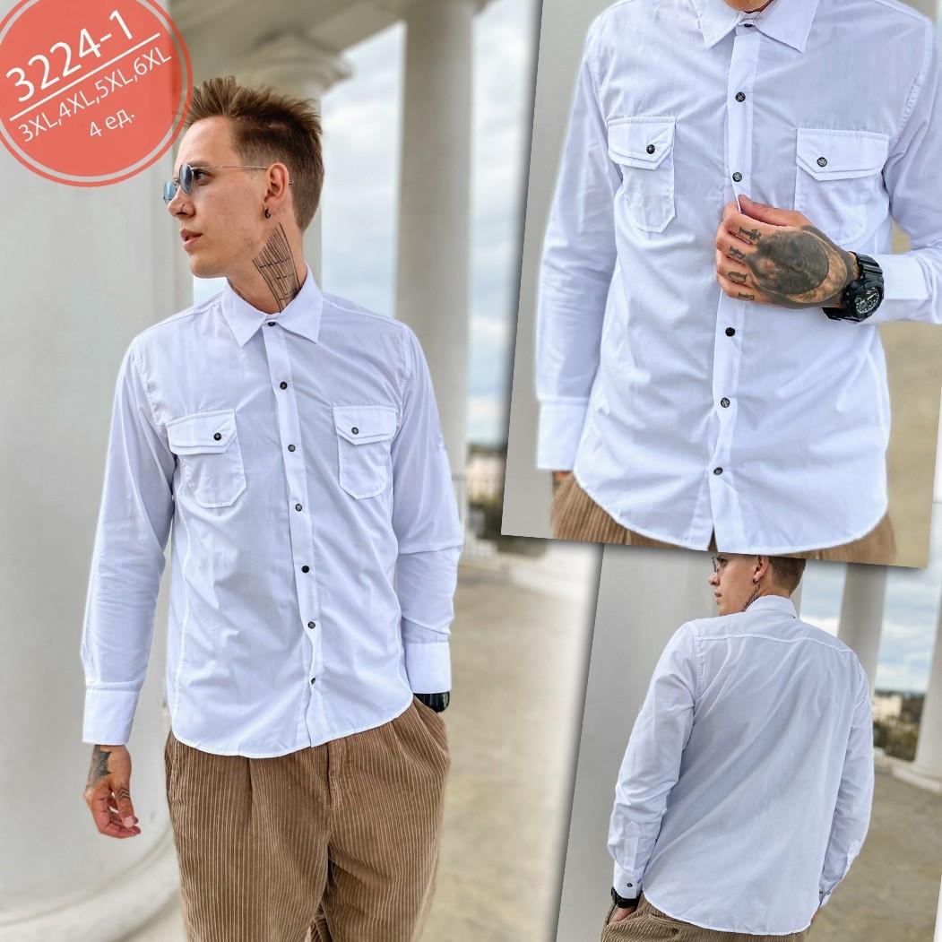 Рубашка мужская больших размеров плотная коттоновая высокого качества SPORTSMAN, Турция