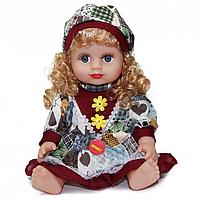 Кукла Алина  5066-AI (Серо-Бордовый наряд) в рюкзаке