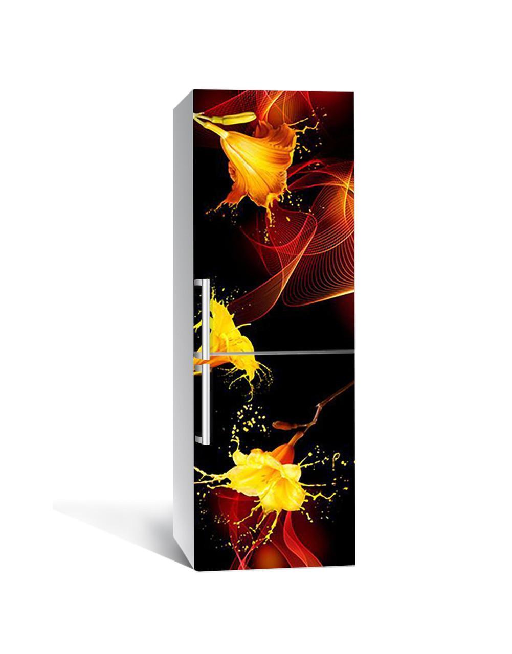 Наклейка на холодильник Zatarga «Плач лилий» 650х2000 мм виниловая 3Д наклейка декор на кухню самоклеящаяся