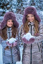 Дитяча шапка для дівчинки Фіона Україна P-017 Фіолетовий