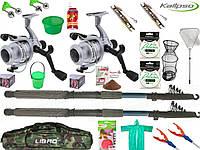 Набор спиннинг с катушкой, универсальный набор для рыбалки, готовые наборы для рыбалки, Наборы для рыбалки!