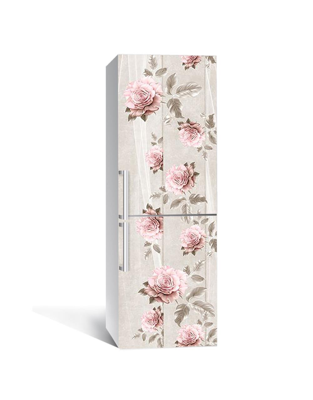 Наклейка на холодильник Zatarga «Печальные розы» 650х2000 мм виниловая 3Д наклейка декор на кухню