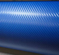 Карбон 3d синий с микро каналами 1,52 м
