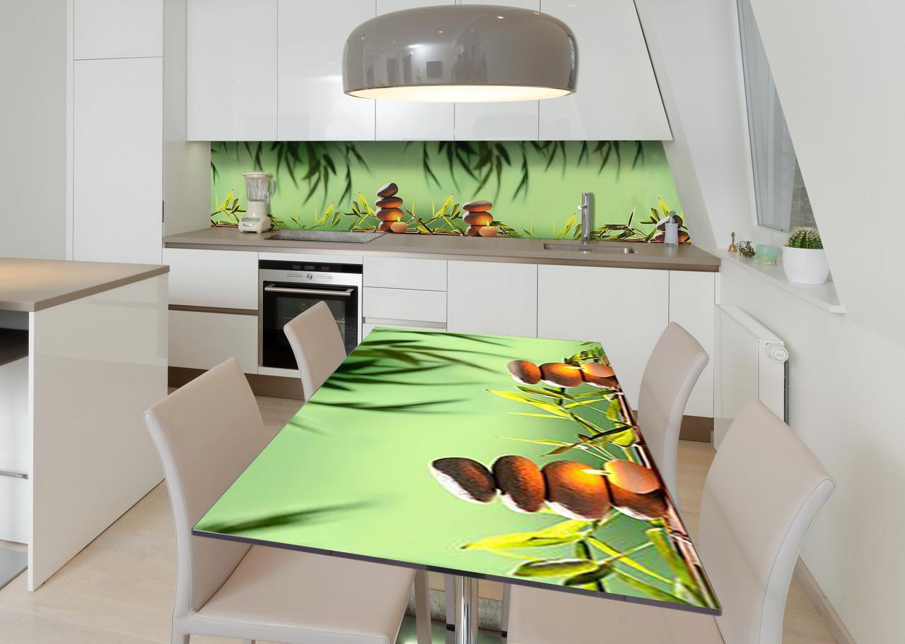 Наклейка 3Д виниловая на стол Zatarga «Вечерняя медитация» 600х1200 мм для домов, квартир, столов, кофейн,