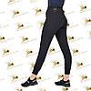 Спортивные штанишки качкорс двухнитка цвет черный, фото 2