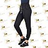Спортивные штанишки качкорс двухнитка цвет черный, фото 3
