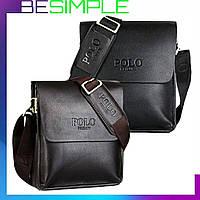 Мужская сумка через плечо Polo Videng 24х21х7 СМ + Подарок Часы DW