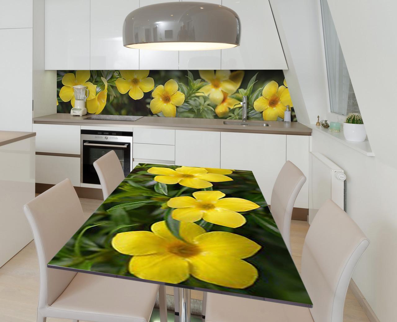 Наклейка 3Д виниловая на стол Zatarga «Жёлтые звёзды» 650х1200 мм для домов, квартир, столов, кофейн, кафе