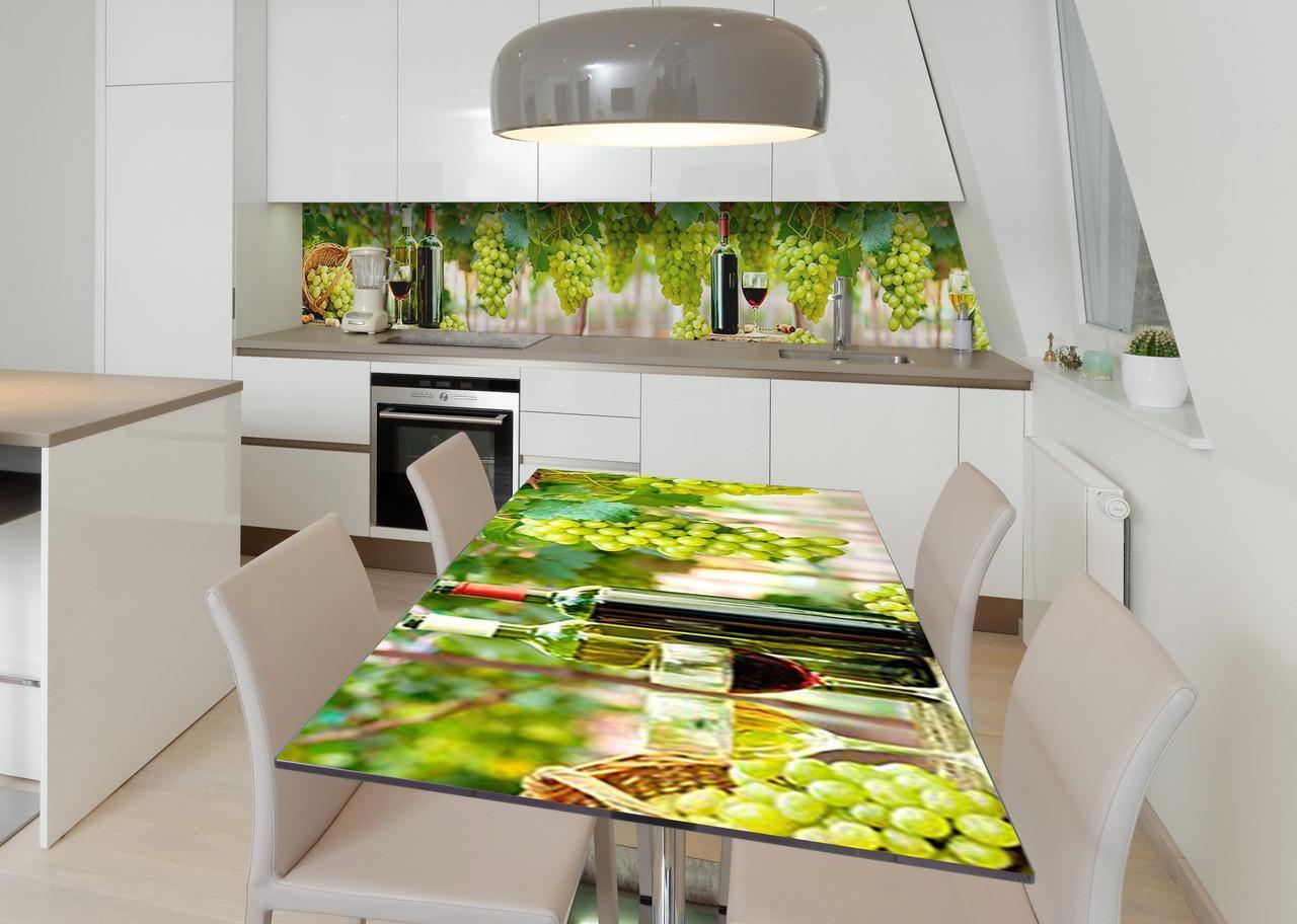 Наклейка 3Д виниловая на стол Zatarga «Богатство вкуса» 650х1200 мм для домов, квартир, столов, кофейн, кафе