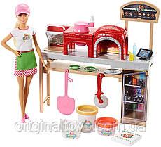 Игровой набор кукла Барби Пицца-шеф с пластилином Barbie Pizza Chef Mattel FHR09