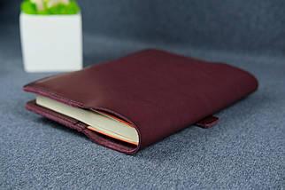 """Обкладинка для блокнот А5 """"Модель №7"""", Шкіра Італійський краст колір Бордо, фото 3"""