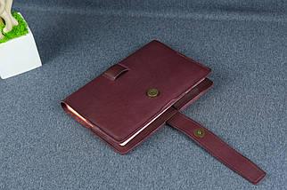 """Обкладинка для блокнот А5 """"Модель №7"""", Шкіра Італійський краст колір Бордо, фото 2"""