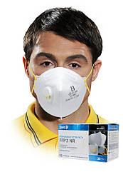 Пилозахисна маска з клапаном MAS-S-FFP3VABJ400 Вт UNI