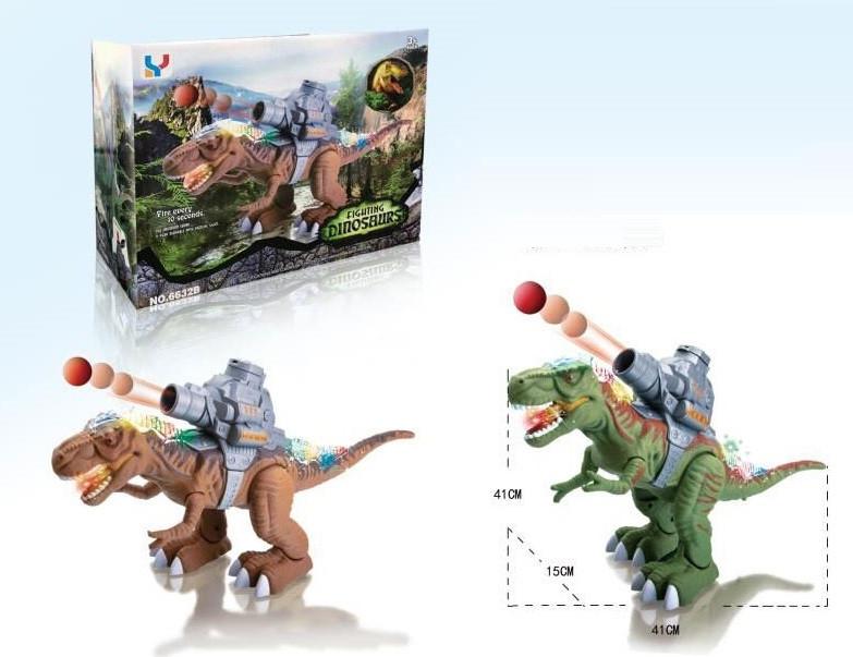 """Интерактивное животное """"Динозавр"""", звук, свет, стреляет, 6632B"""