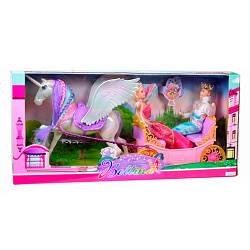 Карета с лошадью, кукла 2 штуки (принц,принцесса), 68133