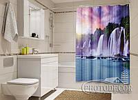 """Фото Шторка для ванной """"Большой водопад"""""""