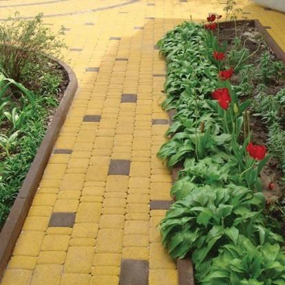 Тротуарная плитка Старый город Золотой мандарин Желтая