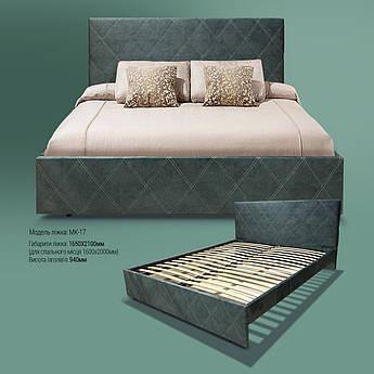 Мягкая кровать МК-17 MegaMebli