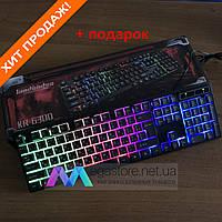 Ігрова клавіатура з підсвічуванням UKC KR - 6300 LED геймерська клавіатура, фото 1